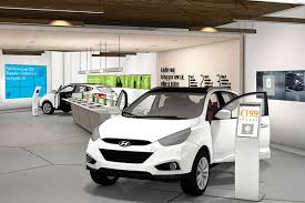car in showroom