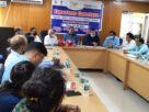 कार्यक्रम के दौरान मंचासीन सहायक निदेशक और अन्य अधिकारी